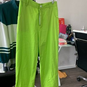 82ave Lime Green Ankle Pants